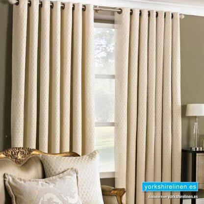 Devere Cream Ring Top Curtains