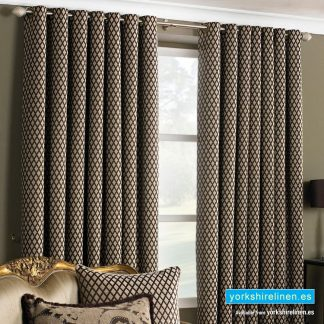 Devere Mocha Ring Top Curtains