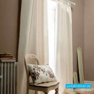 Faux Silk Eyelet Curtains, Cream