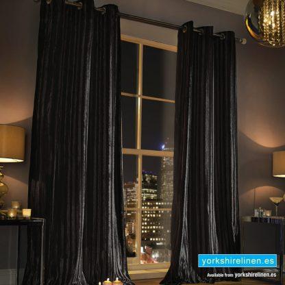 Kylie Minogue Iliana Black Eyelet Curtains