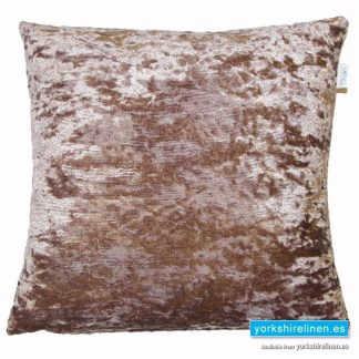 Lustre Velvet Champagne Cushion Cover