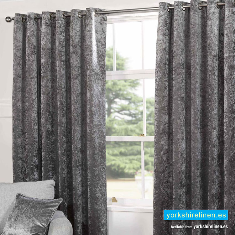 Plush Velvet Steel Curtains Yorkshire Linen Beds And More