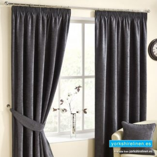 Rico Pewter Pencil Pleat Curtains