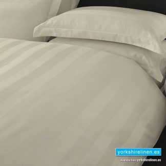 Hotel Stripe Fitted Sheet, 540 Thread Count, Ivory