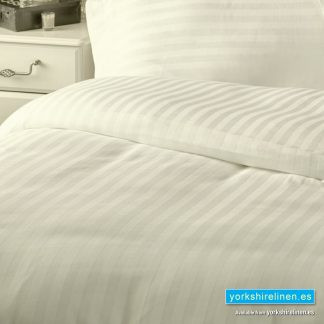 Hotel Stripe Flat Sheet, 540 Thread Count, Ivory