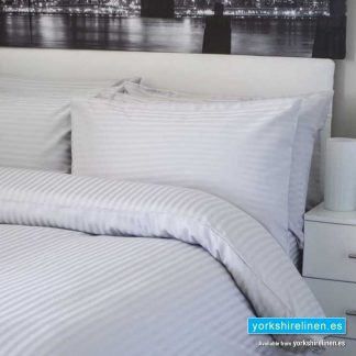 Hotel Stripe Flat Sheet, 540 Thread Count, Platinum