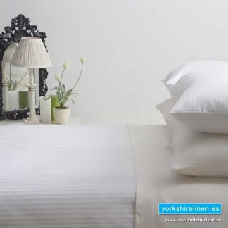 Hotel Stripe Flat Sheet, 540 Thread Count, White