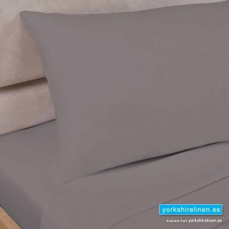 Polycotton Percale Fitted Sheet Taupe