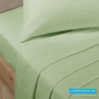 Polycotton Percale Fitted Sheet - Thyme