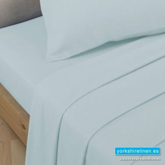 Polycotton Percale Flat Sheets Duck Egg