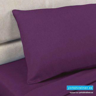 Polycotton Percale Pillowcases, Aubergine
