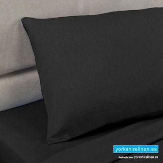Polycotton Percale Pillowcases - Black