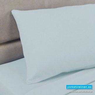 Polycotton Percale Pillowcases - Duck Egg