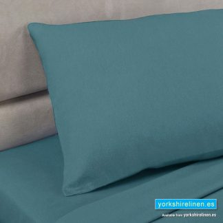 Polycotton Pillowcases in Teal Grean Blue