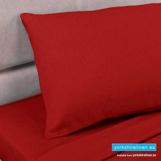 Red Pillowcases, Polycotton Percale