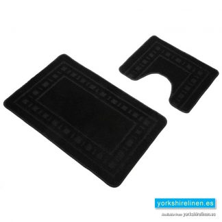 Armoni Black Bath Mat Set