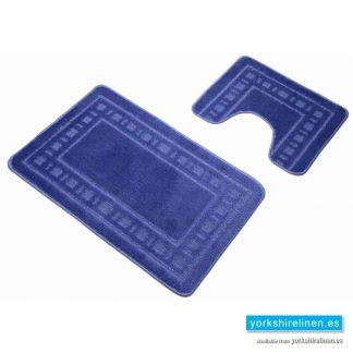 Armoni Blue Bath Mat Set