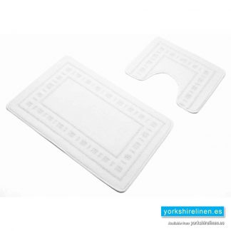 Armoni White Bath Mat Set