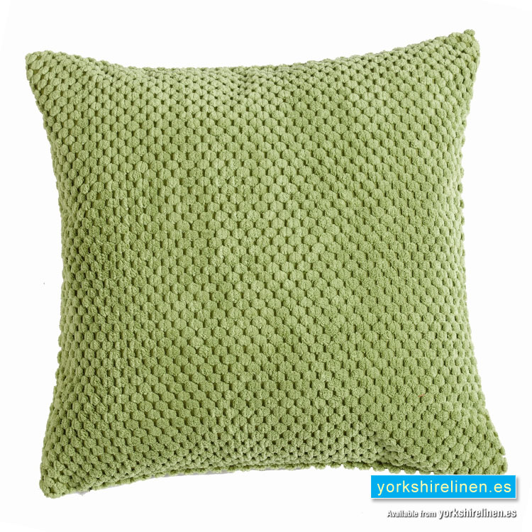 chenille spot cushion cover lime green yorkshire linen. Black Bedroom Furniture Sets. Home Design Ideas