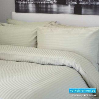 Hotel Stripe Ivory Duvet Cover Set 540 Thread Count