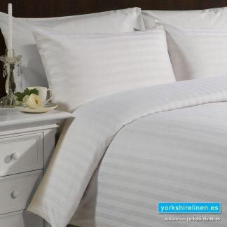 Hotel Stripe White Duvet Cover Set, 540TC