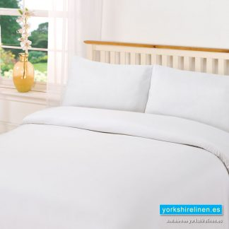 Plain Dye White Duvet Cover Set