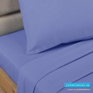 Polycotton Percale Fitted Valanced Sheets - Lagoon