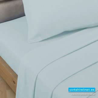 Polycotton Percale Flat Sheets - Duck Egg