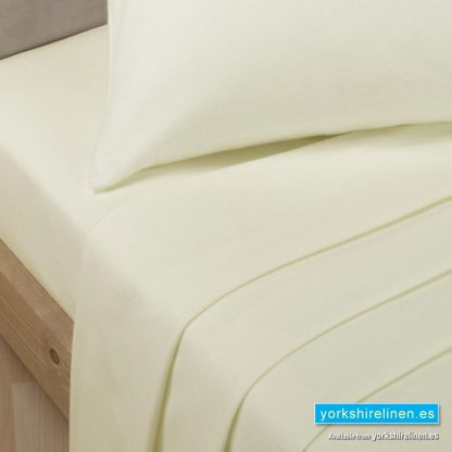 Polycotton Percale Flat Sheets - New Ivory