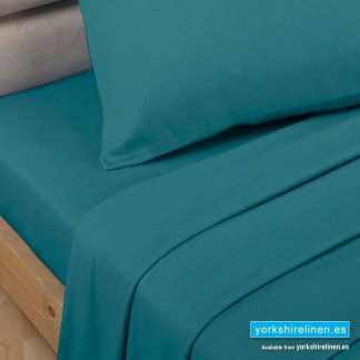 Polycotton Percale Flat Sheets - Teal