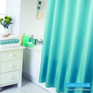 Waterline Teal Blue Shower Curtain