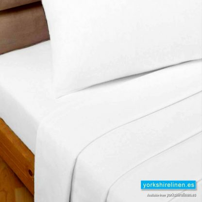 White Polycotton Percale Flat Sheets