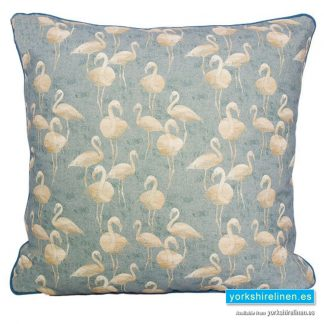 Blue Lagoon Flamingo Cushion
