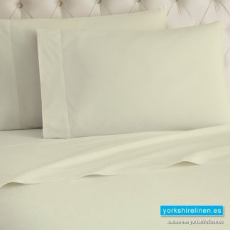 Cream Flannelette Flat Sheet