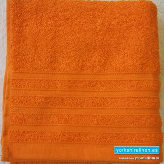 Diamond Bright Orange Cotton Towels