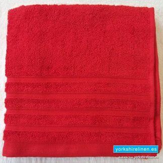 Diamond Bright Red Cotton Towels