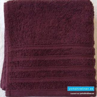 Diamond Rich Aubergine Cotton Towels