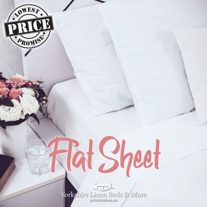 Essential White Flat Polycotton Sheets - Yorkshire Linen Beds & More P01