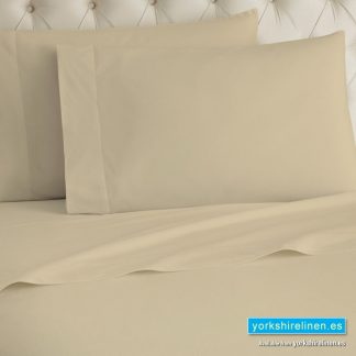 Latte Flannelette Fitted Sheet