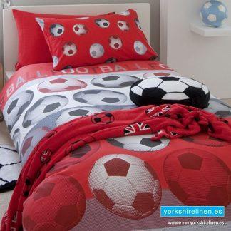Football Red Duvet Cover Set