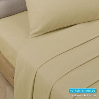 Polycotton Percale Fitted Valanced Sheets - Biscuit
