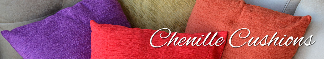 Chenille Cushions from Yorkshire Linen Warehouse Mijas & Marbella