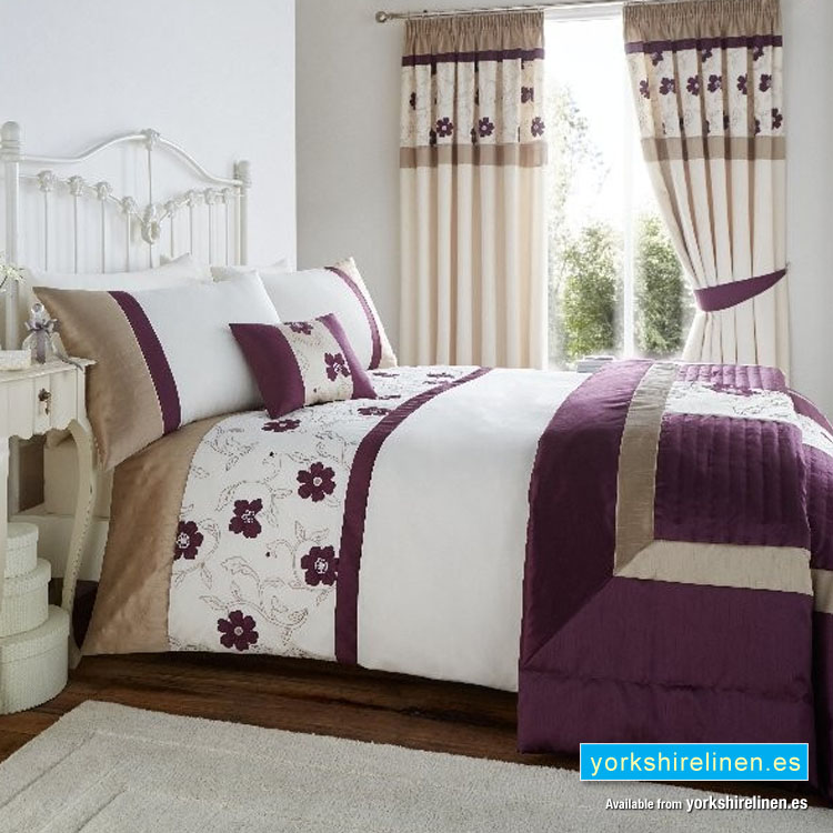 Alicia Plum Duvet Cover Set Yorkshire Linen Beds And More