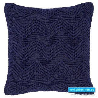 Bianca Cottonsoft Knit Blue Cushion