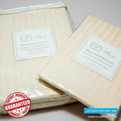 250TC Egyptian Cotton Oxford Pillowcases Ivory