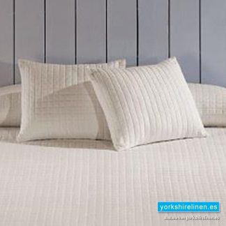 Calgary Cream Cushion, Bedding from Yorkshire Linen Spain