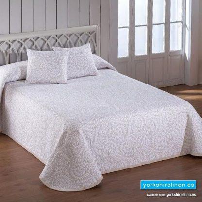 Olimpia Beige Bedspread, Yorkshire Linen, Mijas and Marbella, Spain