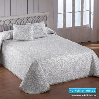 Olimpia Grey Bedspread, Yorkshire Linen, Mijas and Marbella, Spain