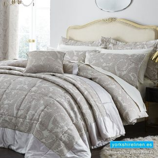 Opulent Jacquard Champagne Duvet Cover Set - Bedding from Yorkshire Linen Fuengirola Marbella Spain