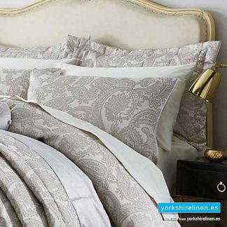 Opulent Jacquard Champagne Pillow Sham - Bedding from Yorkshire Linen Fuengirola Marbella Spain